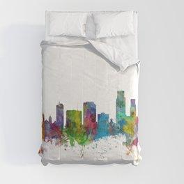 Corpus Christie Texas Skyline Comforters