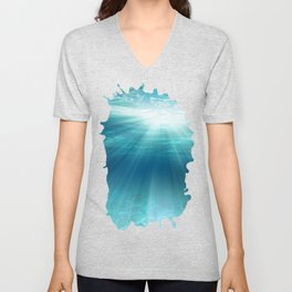 Light Rays Underwater Unisex V-Neck