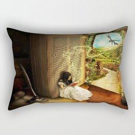 Book of Fantasies Rectangular Pillow