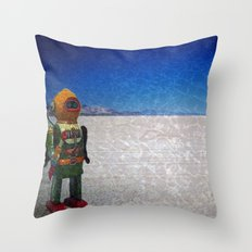 Toy Robots Attack Throw Pillow