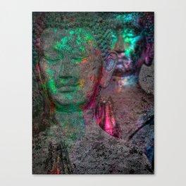 Prayers green glow Canvas Print