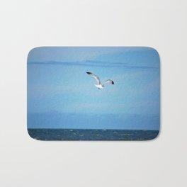 Seagull in flight, is that you Jonathan? Bath Mat