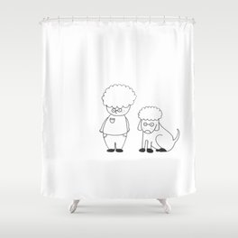 Glenn & Glenndog Shower Curtain