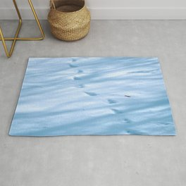 Snow Fall Feather Rug