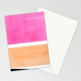 Colorful Bright Minimalist Rothko Pastel Pink Peach Midcentury Modern Art Vintage Pop Art Stationery Cards