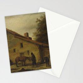 An Inn in the Neighborhood of Nantes, Lambert Doomer, 1640 - 1660 Stationery Cards