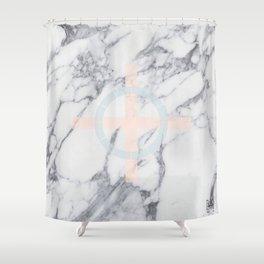 Pastel Cross Shower Curtain