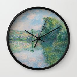 The Seine at Vétheuil Wall Clock