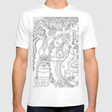 Wooloo Mens Fitted Tee White MEDIUM