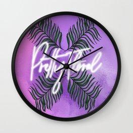 Pretty Floral Print Wall Clock