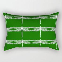 Green Dragonflies Rectangular Pillow