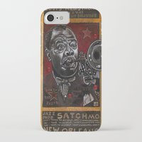 louis armstrong iPhone & iPod Cases featuring Louis Armstrong by Ray Stephenson