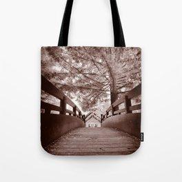 Sepia Bridge Tote Bag