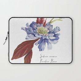 Blue Scabiosa Flower Laptop Sleeve