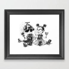 Dreary & Naughty Babies Framed Art Print
