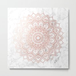 Pleasure Rose Gold Metal Print