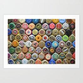 Beer Bottle Caps #6 Art Print