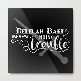 Finding Trouble (on dark) Metal Print