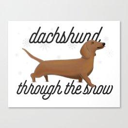 Dachshund Through the Snow Canvas Print