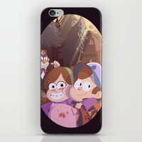 gravity falls iPhone & iPod Skins featuring gravity falls by Tae V