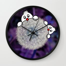 Fly with the dandelion Wall Clock