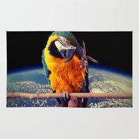 parrot Area & Throw Rugs featuring Parrot by Cs025