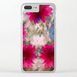 flowers abstract Clear iPhone Case