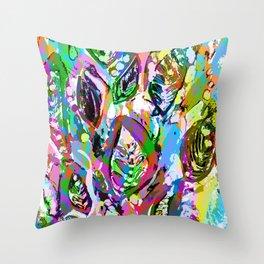 Color Me Rad Throw Pillow