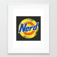 nerd Framed Art Prints featuring Nerd by Yanmos