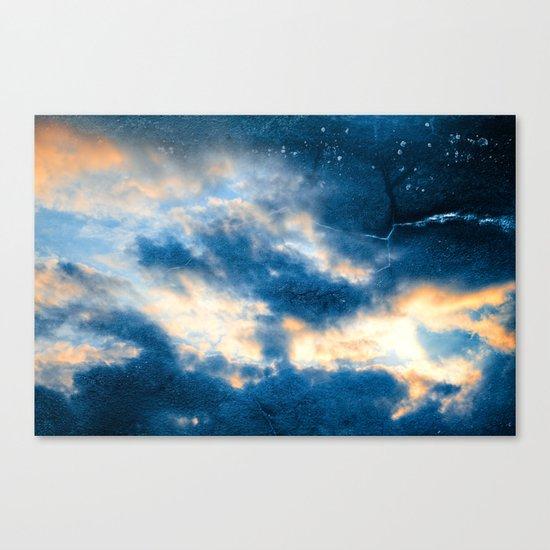 Celestial Grunge Clouds Canvas Print