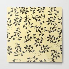 Petite Yellow Floral Metal Print