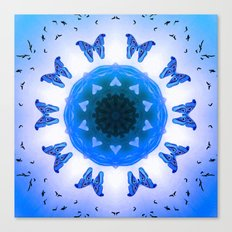All things with wings (blue) Canvas Print
