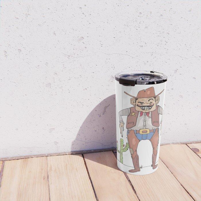 Cartoon Sheriff Travel Mug