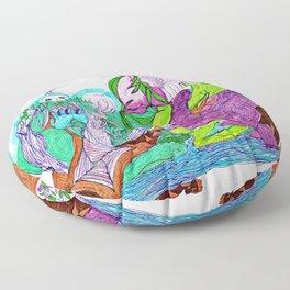 Fractal Landscape Floor Pillow