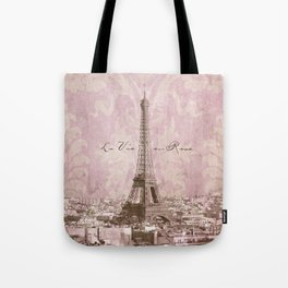 romantic Paris Tote Bag