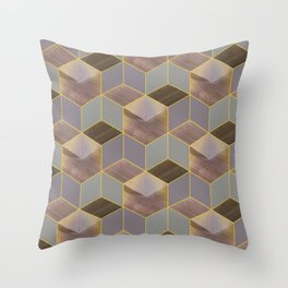 The Cube and the Yellow Light Throw Pillow