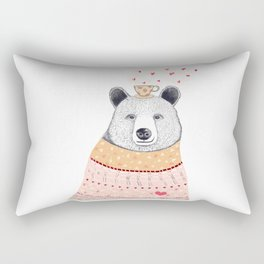 Bear lover of coffee Rectangular Pillow