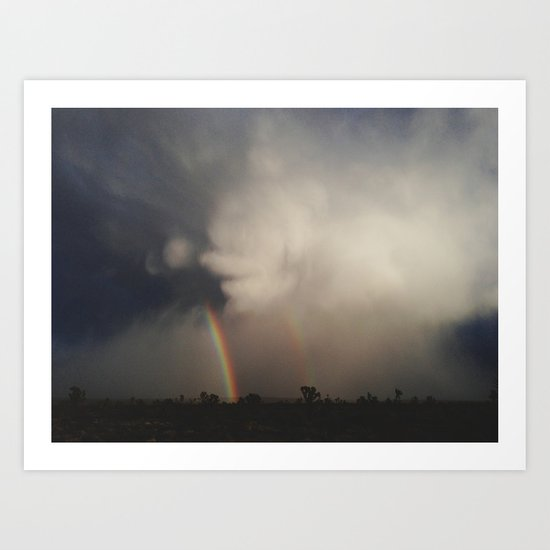 Fist Cloud Rainbows Art Print