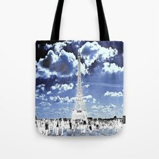Tower Tourists in Reverse Tote Bag