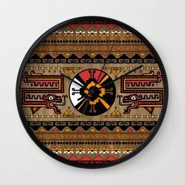Colorful Hunab Ku Mayan symbol #5 Wall Clock