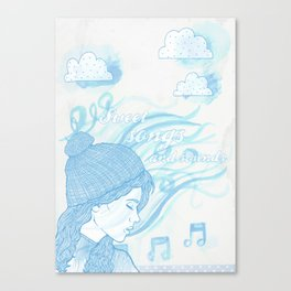 Winter sounds Canvas Print