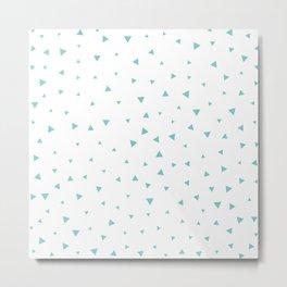 Tiffany Blue Triangle Pattern Metal Print