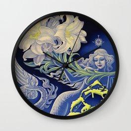 Vintage Mermaid Bermuda Wall Clock