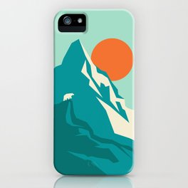 As the sun rises over the peak iPhone Case