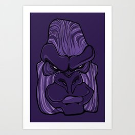 Gorilla - Ultra Violet Purple Art Print