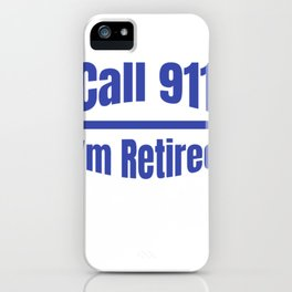 Retired Police Officer Cop Retirement Gift design iPhone Case