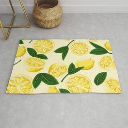 yellow lemons Rug