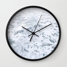 White Abstract Sea Wall Clock