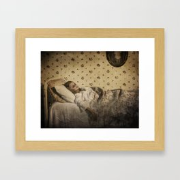 C is for Clara Who Wasted Away  Framed Art Print