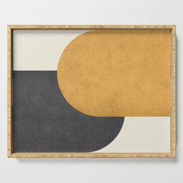 Halfmoon Colorblock - Gold Charcoal Serving Tray